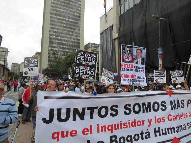 protest petro and ordoñez