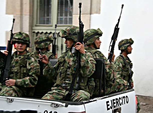 Members of the Military Police of Colombia