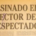 Announcement of the death of El Espectador director Guillermo Cano (Photo Libreta en Contravia)