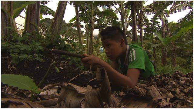 Reporter Tom Esslemont met young boys trained by the Farc - Colombia's largest guerrilla group.
