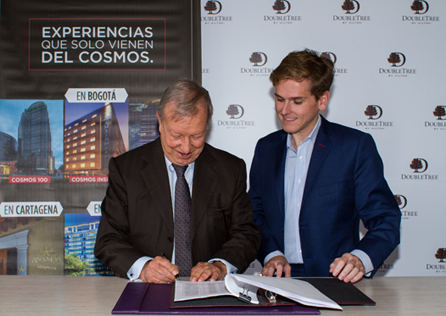 Ricardo Cajiao and Juan Corvinos. Credit: DoubleTree by Hilton.