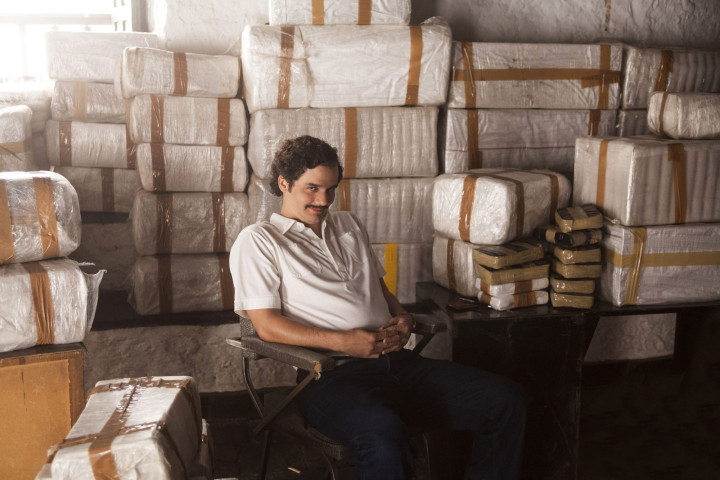 "Actor Wagner Moura plays cocaine kingpin Pablo Escobar in Netflix's ""Narcos."" Photo: AP"