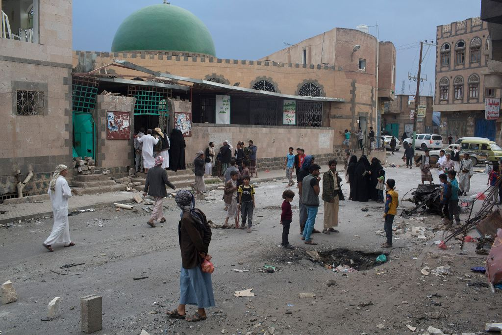 At least 32 people were killed when a suicide bomber attacked a mosque in Sana, Yemen, in September. Dozens have been killed in similar bombings over the last six months, carried out by Sunni Islamic extremists targeting mosques where Shiite Yemenis worship. Credit Tyler Hicks/The New York Times Photo by: Tyler Hicks/The New York Times