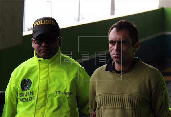 A photograph provided by Colombia's National Police of suspected serial killer Fredy Armando Valencia after his arrest in Bogota. EFE