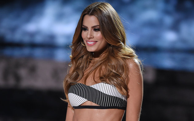 LAS VEGAS, NV - DECEMBER 20: Miss Colombia 2015, Ariadna Gutierrez, competes in the swimsuit competition during the 2015 Miss Universe Pageant at The Axis at Planet Hollywood Resort & Casino on December 20, 2015 in Las Vegas, Nevada. Gutierrez went on to be named first runner-up. (Photo by Ethan Miller/Getty Images)