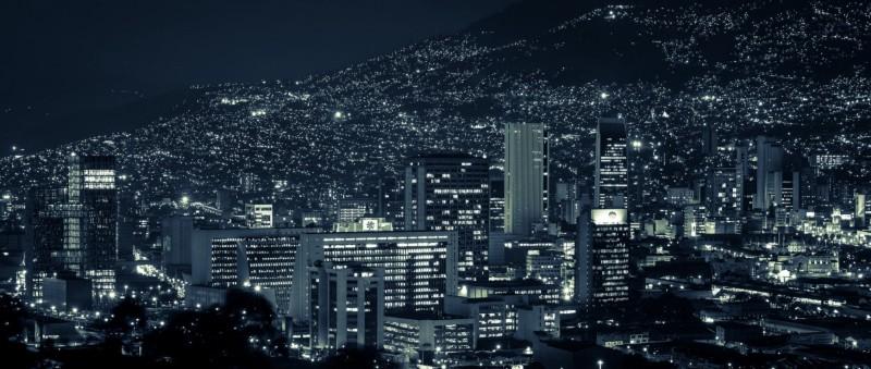 Medellin by night