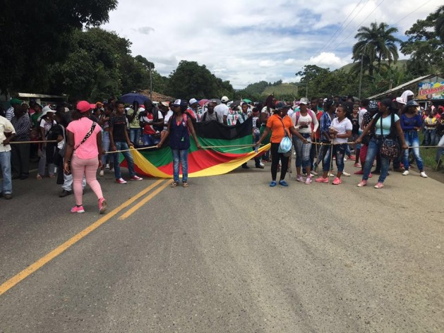 Black Women are leading the resistance in Northern Cauca, Colombia. Credit: ACONC (Association of Community Councils of Northenr Cauca).