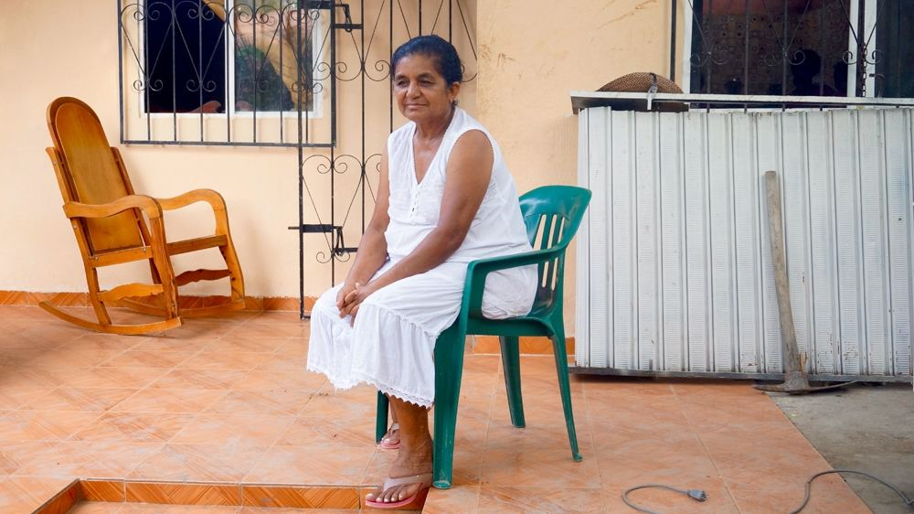 """""""I had six children, and I had to flee many times from rape,"""" says Everledis, one of the founding members of the Liga de Mujeres Desplazadas (League of Displaced Women)"""