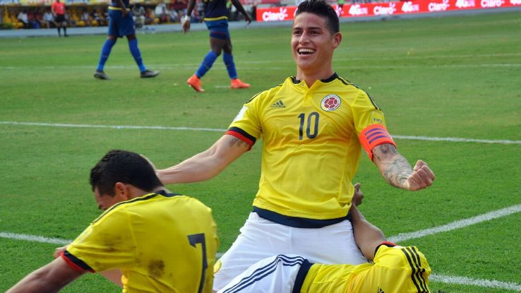 While 2015-16 was a tough year for James at Real Madrid, his trademark swagger has returned when suiting up for Colombia.