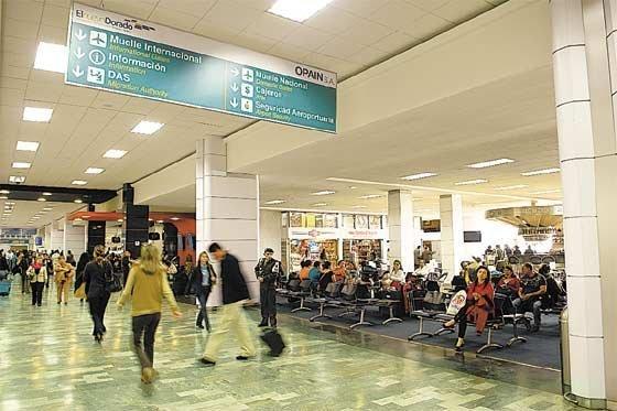 Bogota's El Dorado airport. Photo El Espectador