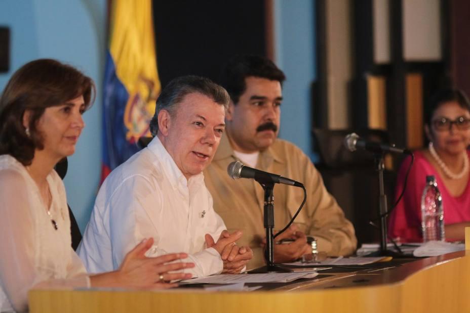 Santos and Maduro