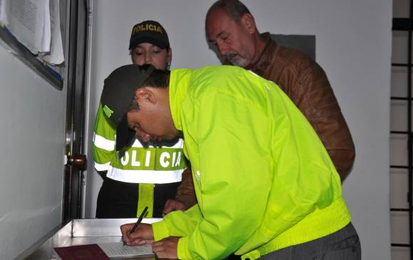 Police photo from the arrest of Italian criminal Enricco Muzzolini