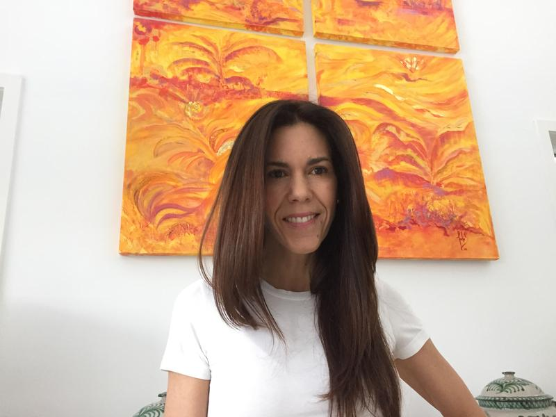 """Give to Colombia founder Angela Maria """"Nai"""" Tafur at her home in Key Biscayne. Tim Padgett / WLRN.org"""