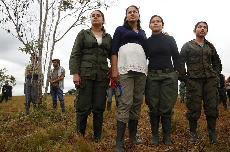 Women make up a large share of the FARC force. In the past, female fighters who had babies weren't allowed to keep them, so most were raised by relatives.