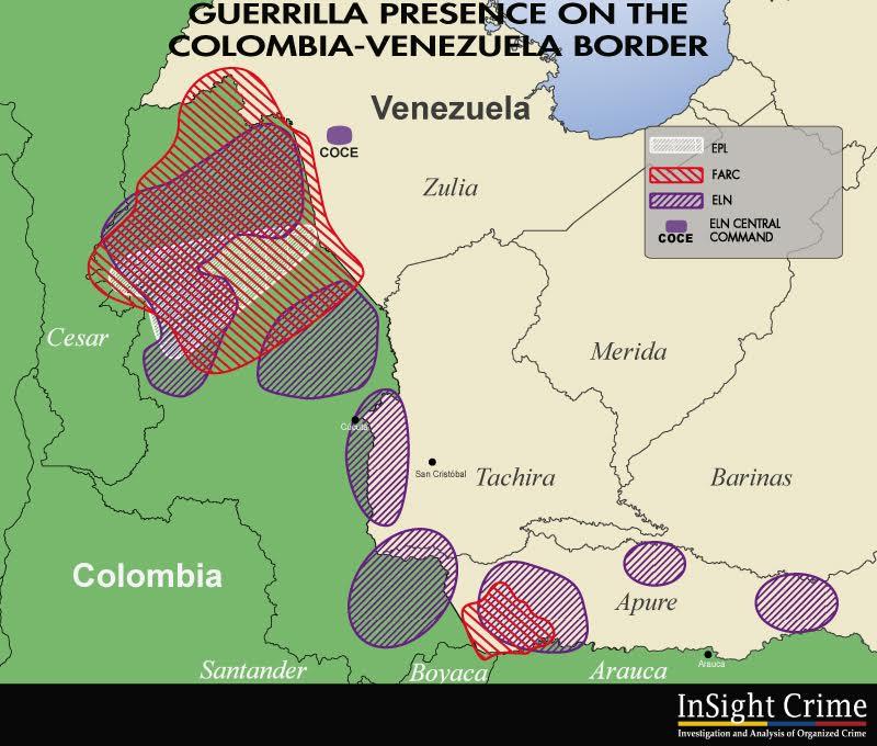Venezuela Guerrillas map