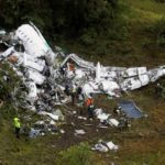 Wreckage from a plane that crashed into Colombian jungle with Brazilian soccer team Chapecoense, is seen near Medellin