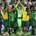 File photo of Chapecoense players celebrating after their match against San Lorenzo at the Arena Conda stadium in Chapeco